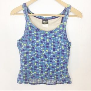 REI Purple Pattern Workout Tank / LG